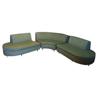 Original Mid-Century Curved Sofa