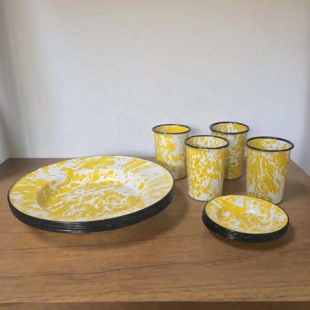 Vintage Yellow Enamelware - Set of 15 - Image 4 of 10