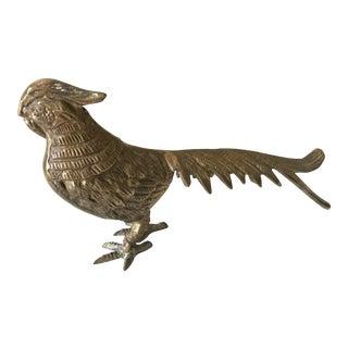 Mid Century Modern Brass Pheasant Bird