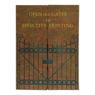Circa 1920's Printers Portfolio Book