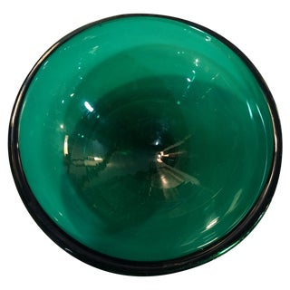 Italian Murano Emerald Glass Bowl