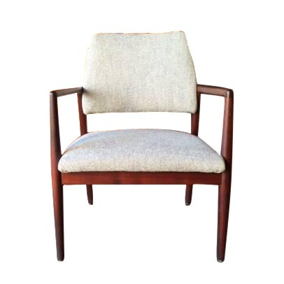 Mid-Century Danish Walnut Sculpted Arm Chair - Image 1 of 9