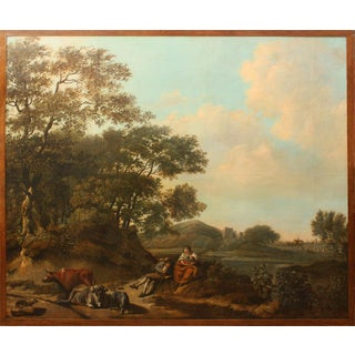 18th Century Dutch Pastoral Landscape from Boston's Ames-Webster Mansion