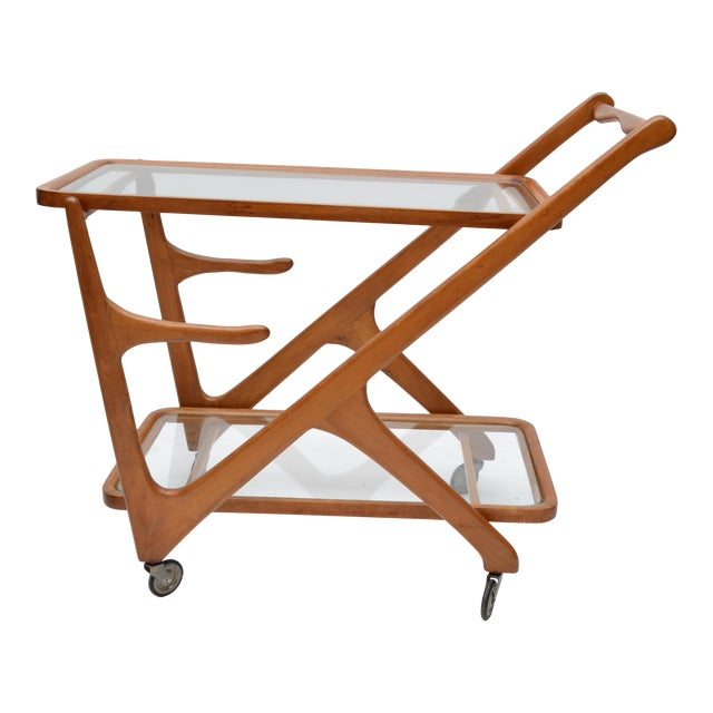 Cesare Lacca Wooden Bar Cart for Cassina, Italy - Image 1 of 8