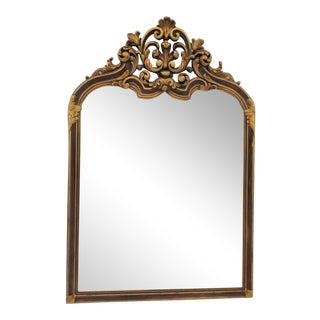 Italian Baroque Carved Arch Top Gold Mirror