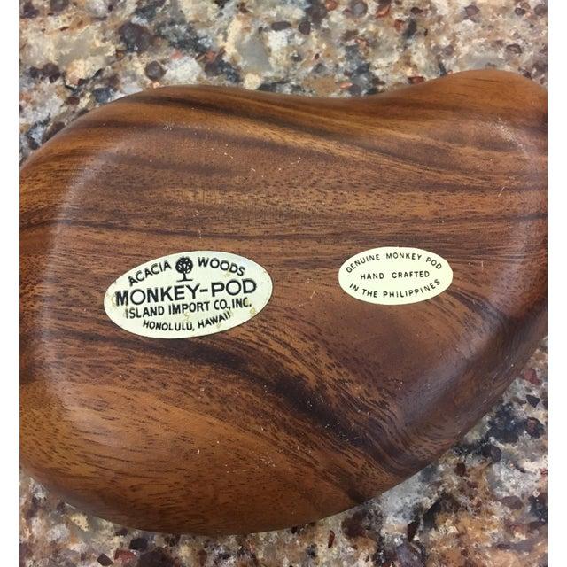 Mid-Century Monkey Pod Leaf Bowls- Set of 6 - Image 5 of 6
