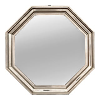 French Art Deco Metallic Octagonal Mirror