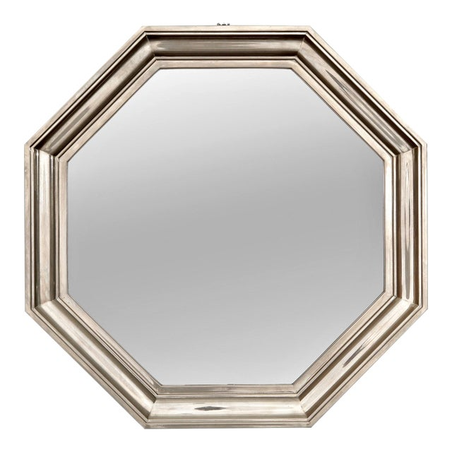French Art Deco Metallic Octagonal Mirror - Image 1 of 7