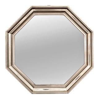 French Art Deco Metallic Octagonal Mirror
