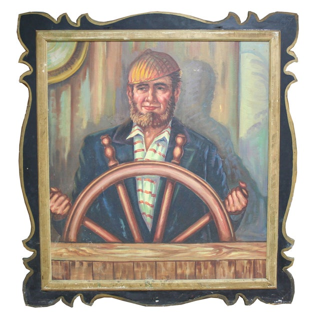Image of Salvaged Carousel Panel with Captain