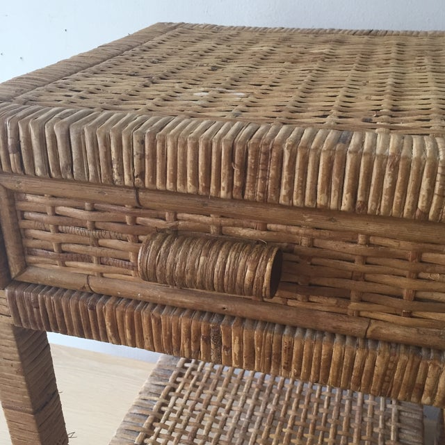 Island Woven Rattan End Tables - A Pair - Image 3 of 6