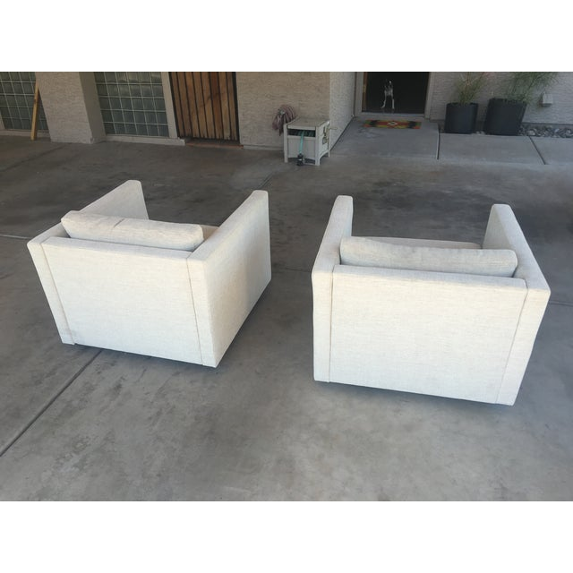 """Knoll Vintage """"Pfister"""" Club Chairs - A Pair - Image 3 of 10"""