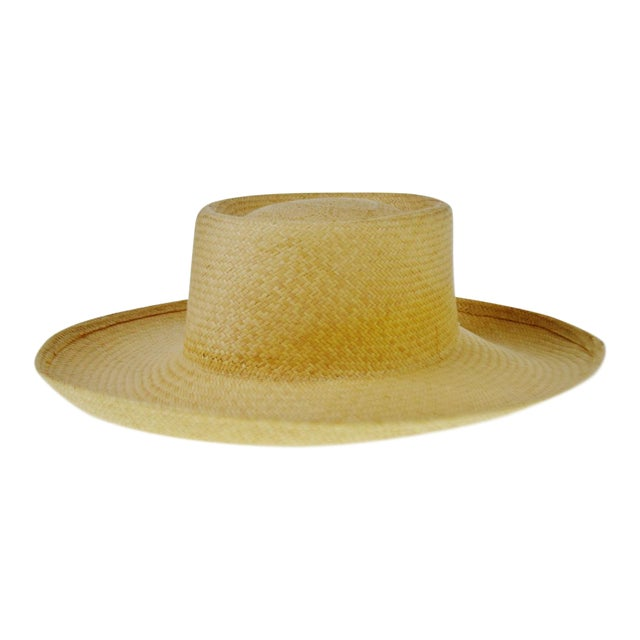 Vintage Genuine Hand-Woven Panama Hat - Image 1 of 10
