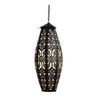 Metal Work Tall Melon Lantern