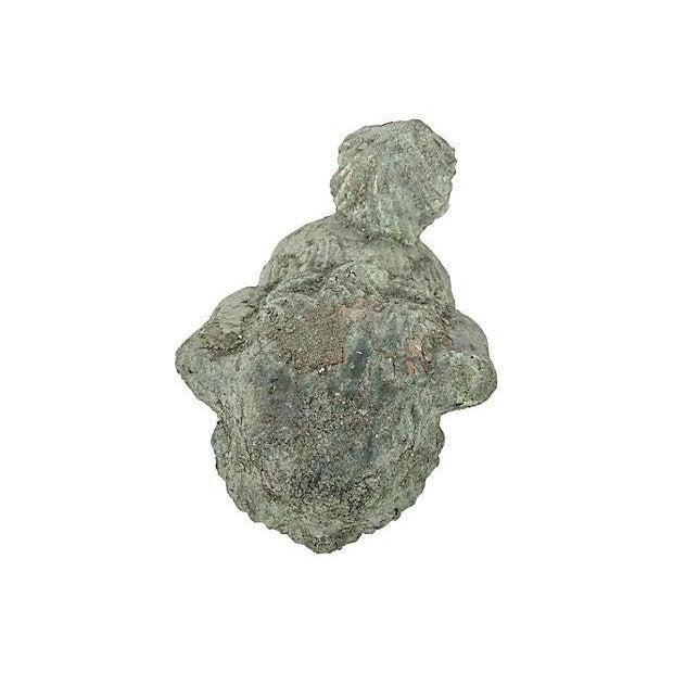 Image of Verdigris Foo Dog Garden Ornament