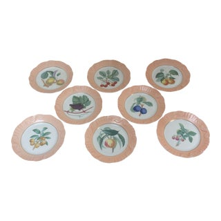 Mottahedeh Fruit Themed Plates - Set of 8