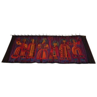 7' Wool Wall Hanging Rug Styled Evelyn Ackerman