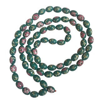 Jade Hand Painted Porcelain Beads