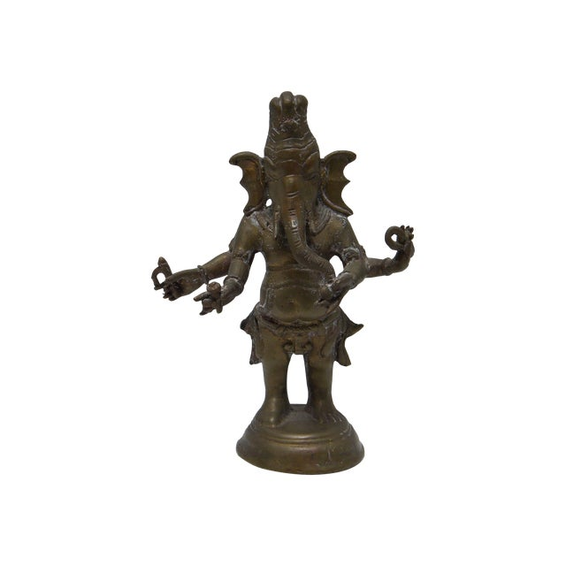 Vintage Bronze Ganesha Figure - Image 1 of 7