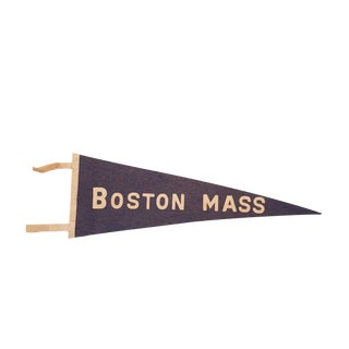 Vintage 1930's Boston Massachusetts Felt Flag
