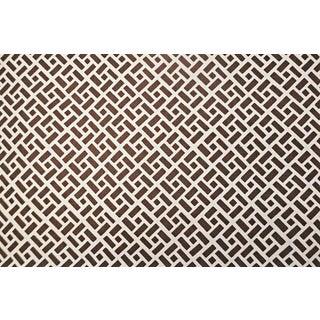 Quadrille Edo Brown on Tint Linen - 3 Yards