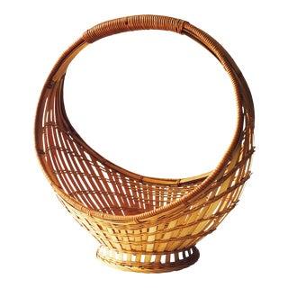 Vintage Circular Woven Basket