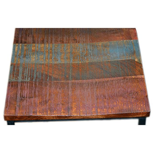 Reclaimed Wood & Iron Bar Stool - Image 2 of 2