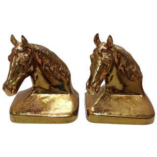 Vintage Equestrian Horse Bookends - A Pair