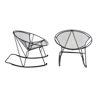 Pair of Salterini Patio Rocking Chairs by Maurizio Tempestini