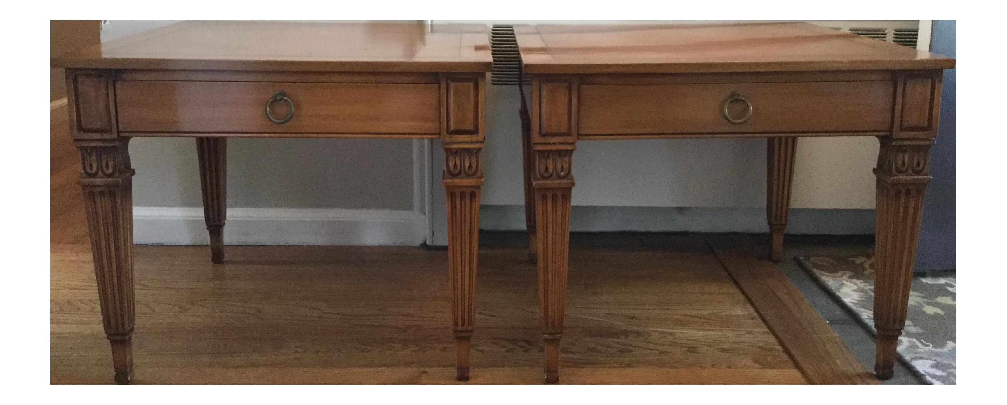 Vintage Baker Furniture Side Tables   A Pair