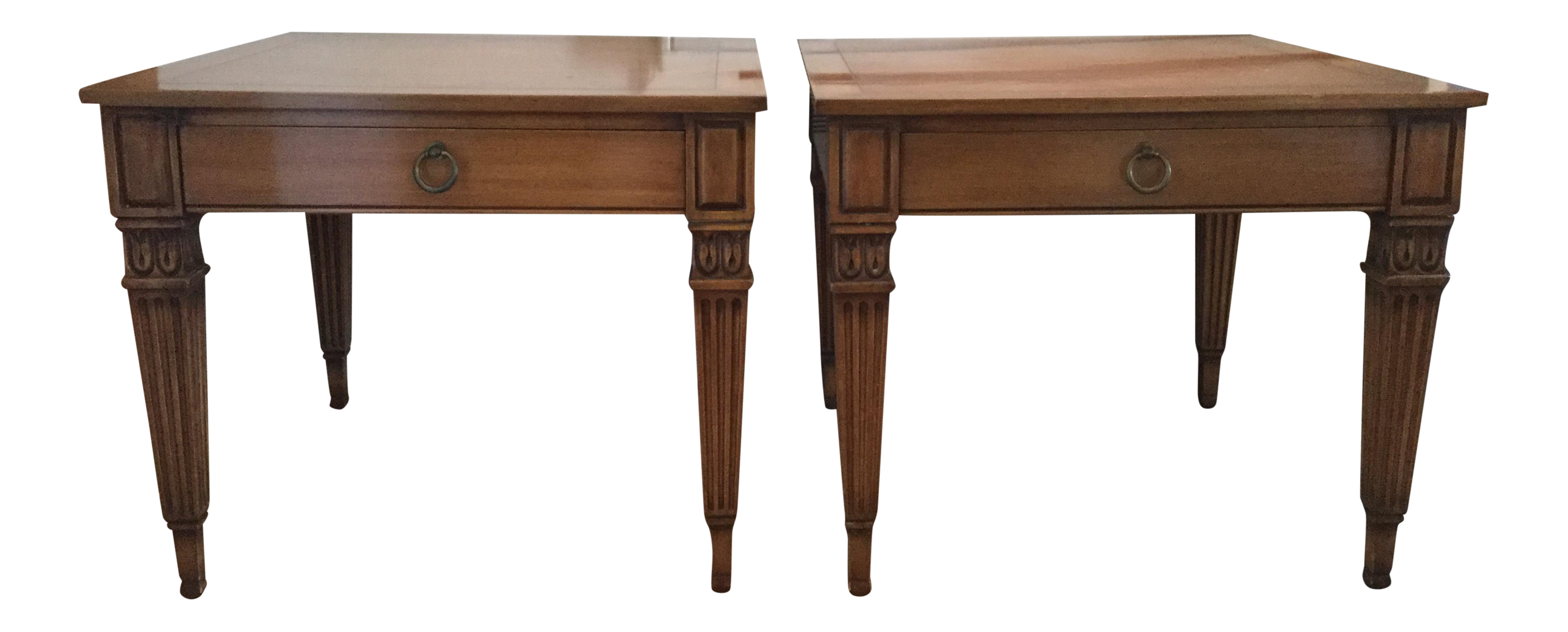 Superb Vintage Baker Furniture Side Tables   A Pair