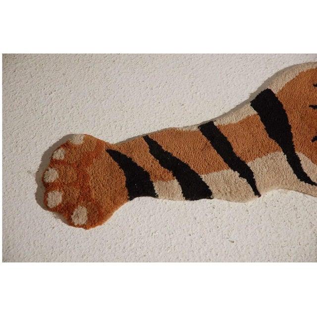 Vintage Wool Tiger Rug - Image 4 of 6