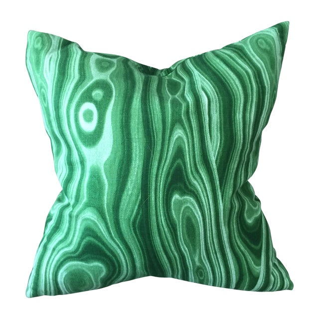 Emerald Green Pillow - 3 Available - Image 1 of 5