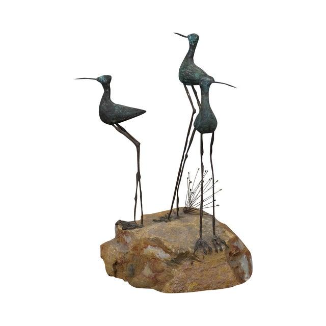 Image of Curtis Jere Metal Sculpture of Shore Birds
