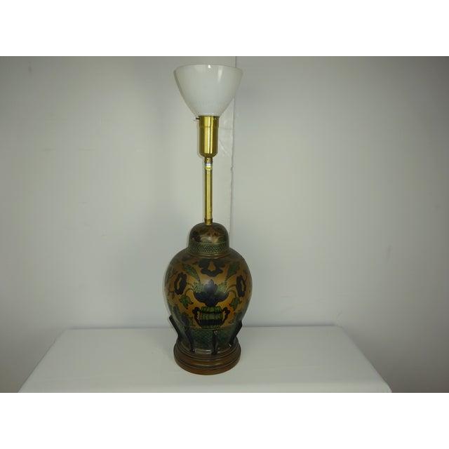 Marbro Vintage 1960s Italian Pottery Table Lamp - Image 2 of 7