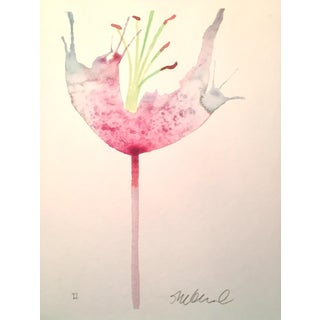 "Steve Klinkel ""Soft Pink Petals"" Watercolor Painting"