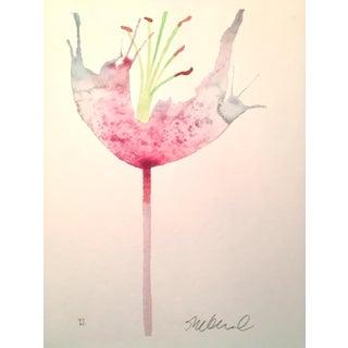 "Steve Klinkel ""Soft Pink Petals"" Watercolor Painting"
