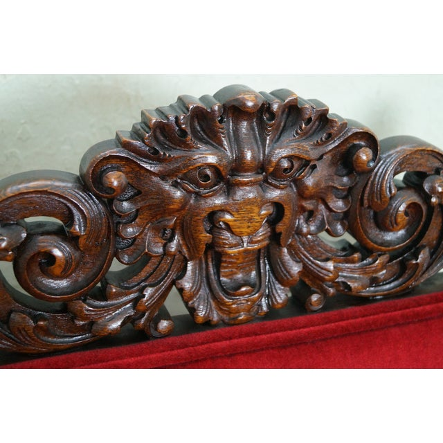 Antique Lion Head Solid Oak Renaissance Arm Chair - Image 5 of 10 - Antique Lion Head Solid Oak Renaissance Arm Chair Chairish