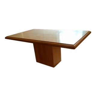Italian Travertine Single Pedestal Table