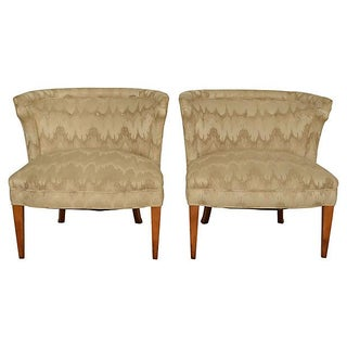 Barrel-Back Regency Slipper Chairs - Pair