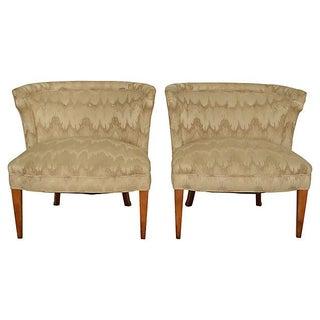 Barrel-Back Regency Slipper Chairs - Pair