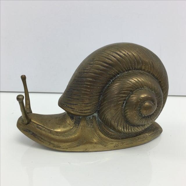 Image of Brass Snail Figurine