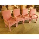 Image of Parsons Dining Chairs in Desert Rose Velvet - Set of 4