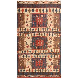 Exceptional Rare Antique 19th Century Turkish Kilim
