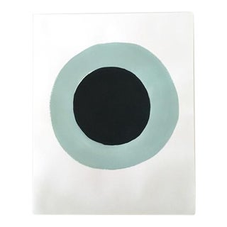 "Neicy Frey ""Dot No. 11, Jet"" Original Painting on Paper"