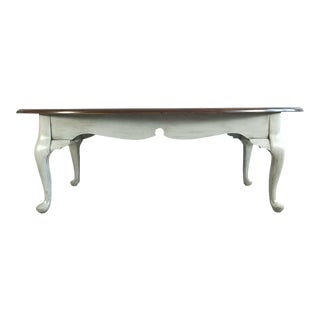 Modern Farmhouse Queen Anne Gray Solid Wood Coffee Table