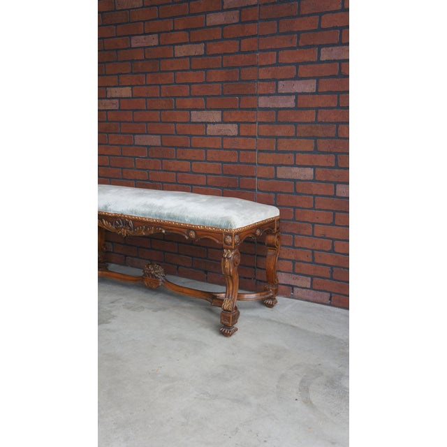 Antique French Provincial Bench - Image 3 of 9