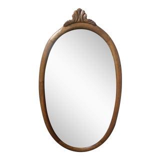 English Pine Oval Mirror