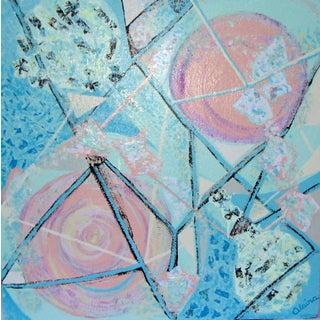 Suga Lane - Feminine Constellation Contemporary Acrylic Painting