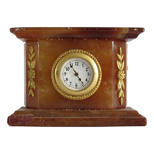 Italian Onyx Clock - Image 1 of 3